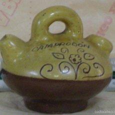 Antigüedades: CURIOSO BOTIJO DE CERAMICA DE CAMPRODÓN (GERONA). Lote 57548155