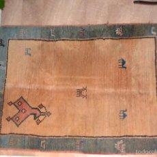 Antigüedades: ALFOMBRA PERSA GABBEH. MEDIDAS: 2,30 X 1,73 M. LANA ANUDADA A MANO.. Lote 57548326