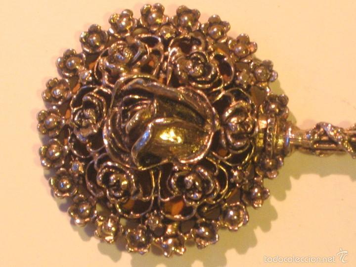 Antigüedades: espejo de bolso - Foto 2 - 57558335