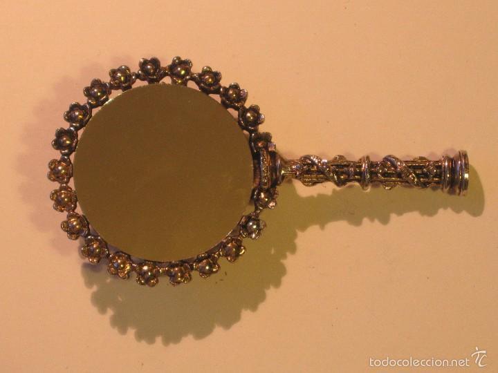 Antigüedades: espejo de bolso - Foto 3 - 57558335