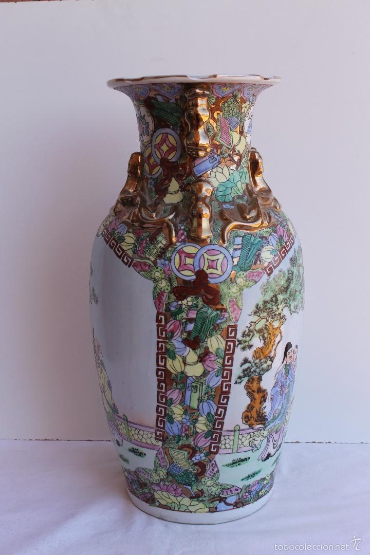 Antigüedades: JARRON DE PORCELANA CHINA AÑOS 70. - Foto 3 - 57559947