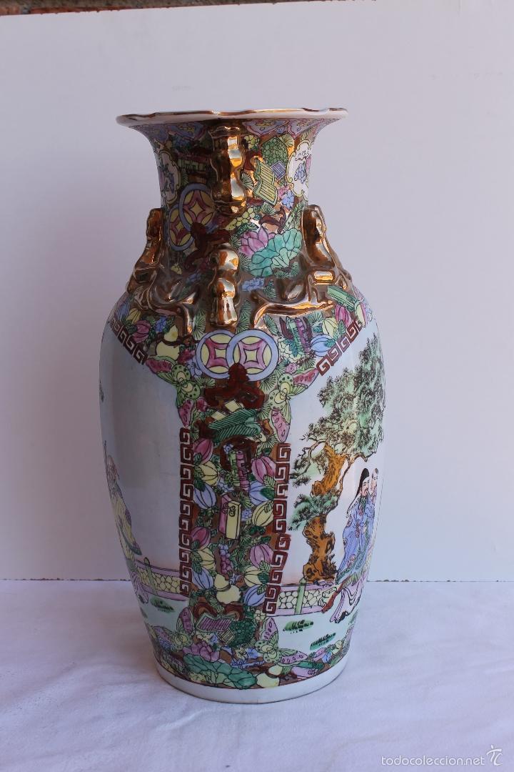 Antigüedades: JARRON DE PORCELANA CHINA AÑOS 70. - Foto 4 - 57559947