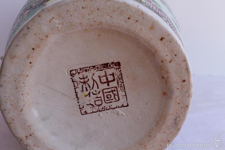 Antigüedades: JARRON DE PORCELANA CHINA AÑOS 70. - Foto 5 - 57559947