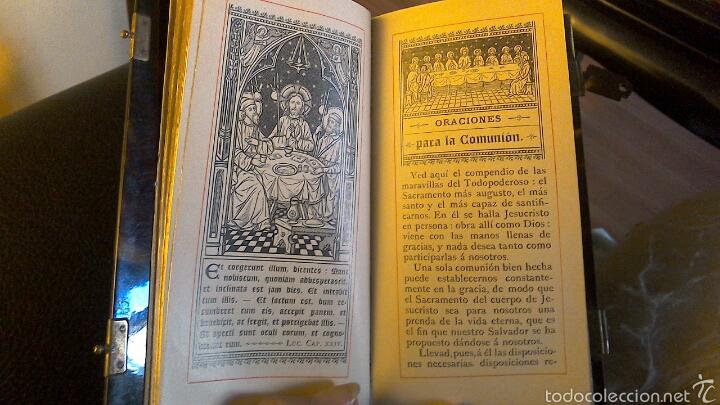 Antigüedades: Misal Libro oraciones con tapas en carey finales s.XIX - Foto 9 - 57560736