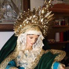 Antigüedades: VIRGEN DE GLORIA BUSTO -CAP I POTA S. XIX TALLA MADERA. Lote 57563669