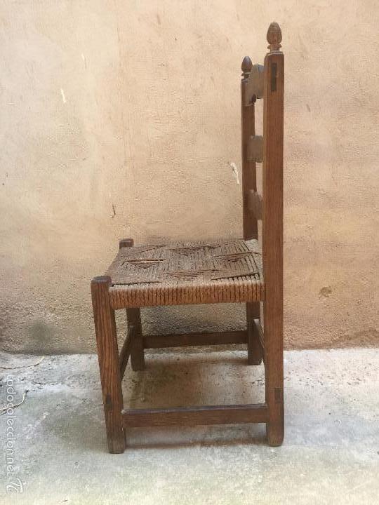 4 sillas castellanas en madera de casta o y asi comprar - Sillas antiguas de madera ...