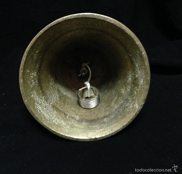 Antigüedades: ANTIGÜA CAMPANA EN BRONCE , MANGO EN MADERA . - Foto 3 - 57578372