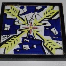 Antigüedades: (M) SALVADOR DALI - AZULEJO PORCELANICO , EDICION DE 1954 , 20 X 20 CM, BUEN ESTADO. Lote 57578856