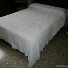 Antigüedades: COLCHA DE GANCHILLO. Lote 57580417