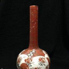Antigüedades: ANTIGÜO FLORERO JAPONÉS EN PORCELANA - KUTANI DINASTÍA MEIJÍ. Lote 57580544