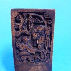 Antigüedades: CHINA. ANTIGUO SELLO CHINO. TALLADO EN MADERA A MANO. SIGLO XIX.. Lote 57582979