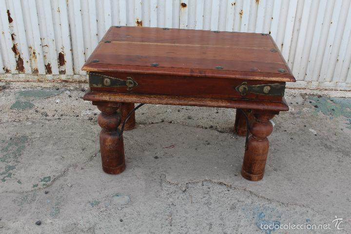 Mesa rustica en madera de palosanto comprar mesas for Mesas antiguas rusticas