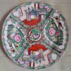 Antigüedades: CHINA - PLATO DE CERAMICA CHINA - MEDIDAS 25 CENTIMETROS - SIN IDENTIFICAR ORIGEN. Lote 57593209