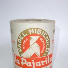 Antigüedades: ROLLO DE PAPEL HIGIÉNICO *LA PAJARITA* AÑOS 50-60. Lote 57605989