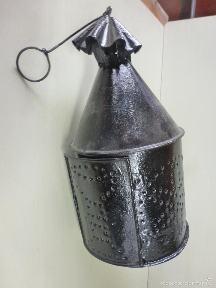 Antigüedades: Fanal, farol, luz para procesiones, Hierro forjado. - Foto 5 - 57610197