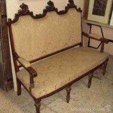 Antigüedades: CONJUNTO TRESILLO Y DOS SILLONES FINAL XIX. Lote 57614783