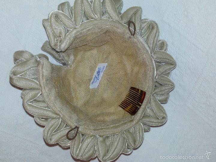 Antigüedades: GORRO O TOCADO INFANTIL DE 17 CM DIÁMETRO-MODAS ESTHER GIJÓN - Foto 2 - 57619492