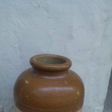 Antigüedades: TINAJA ANTIGUA DE BARRO VIDRIADO. Lote 57627021