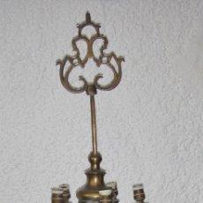 Antigüedades: ANTIGUA LAMPARA, LUMINARIA O CANDIL DE ACEITE. S.XIX. BRONCE. GRAN TAMAÑO 77 CM DE ALTURA. Lote 57630082