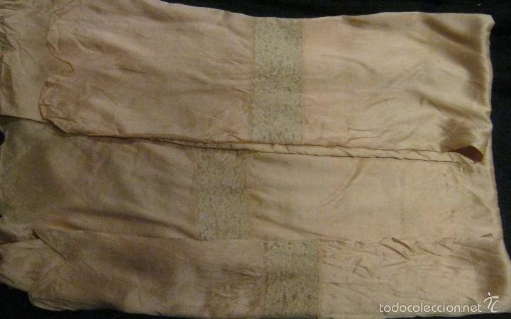 Antigüedades: ANTIGUA PIEZA ART DECO DE SEDA CON ENCAJE PP. S. XX - Foto 3 - 57654634