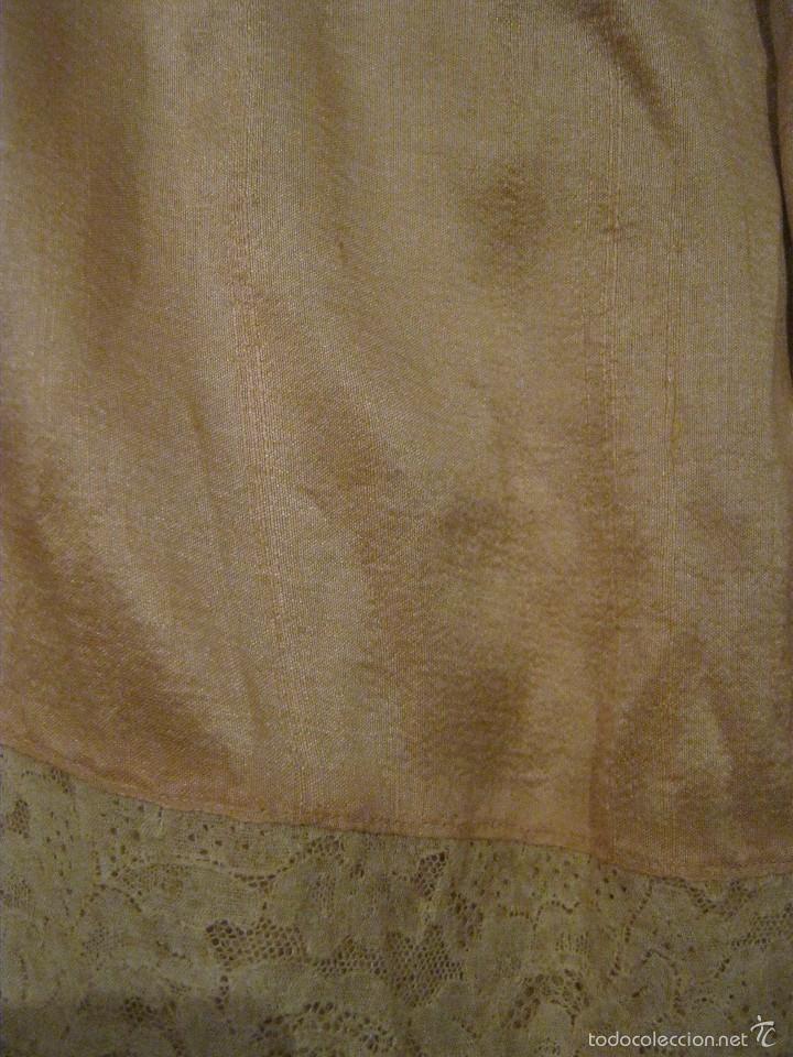 Antigüedades: ANTIGUA PIEZA ART DECO DE SEDA CON ENCAJE PP. S. XX - Foto 5 - 57654634