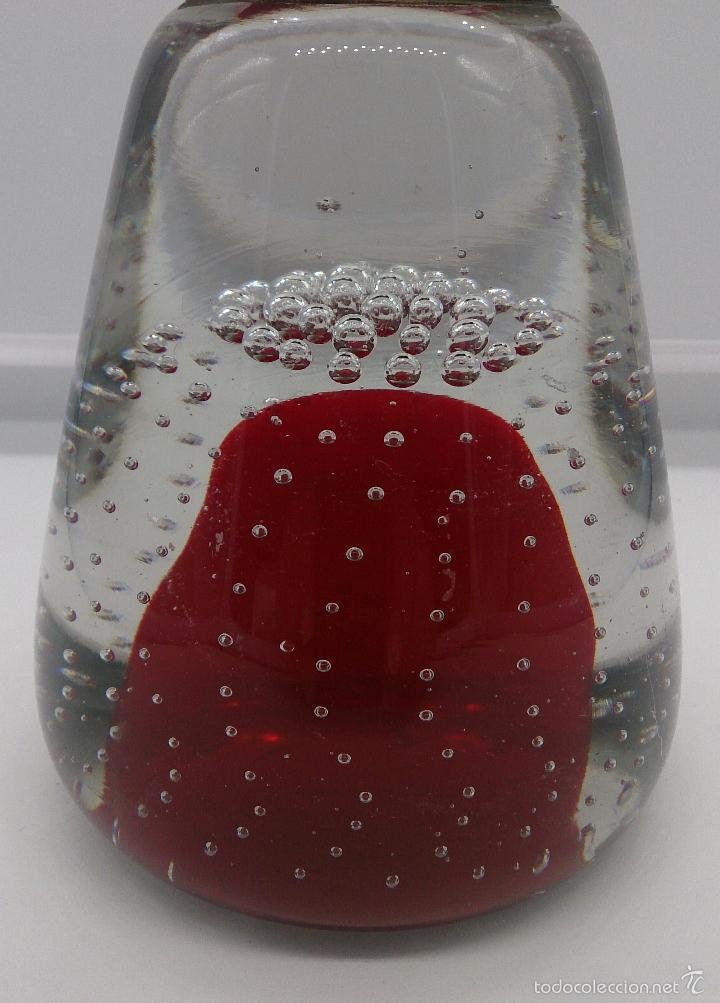 Antigüedades: Gran pisapapeles antiguo en cristal de murano con figura de payaso de metal , art nouveau . - Foto 8 - 57659104