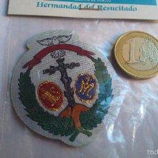 Antigüedades: SEMANA SANTA DE HUELVA PARCHE DE TELA HERMANDAD DEL RESUCITADO . Lote 57669713