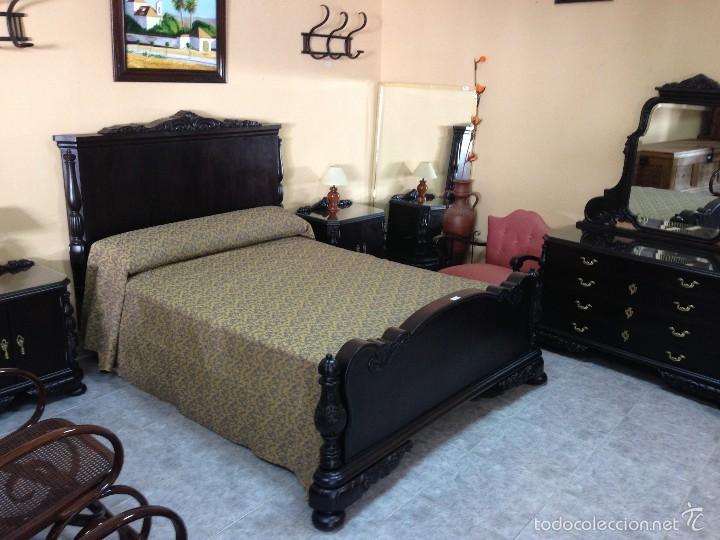 antiguo dormitorio nogal años 40 totalmente res - Comprar Camas ...