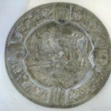 Antigüedades: CENICERO CON ESCENA DEL QUIJOTE . Lote 57683003