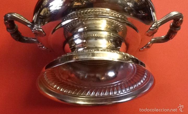 Antigüedades: Copa / jarrón / metálico plateado / - Foto 3 - 57684995
