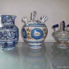 Antigüedades: 2 JARRONES TALAVERA Y UN JARRON GRÈS ALEMAN. Lote 57686790