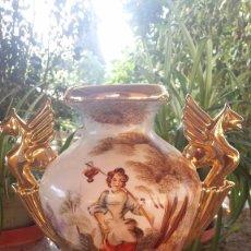 Antigüedades: ANTIGUO JARRON DE CERAMICA PINTADO A MANO.. Lote 57695188