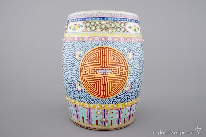 ASIENTO DE JARDIN CHINA SIGLO XIX (Antigüedades - Porcelanas y Cerámicas - China)