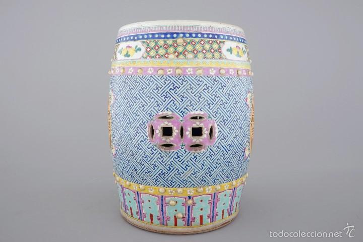 Antigüedades: ASIENTO DE JARDIN CHINA SIGLO XIX - Foto 4 - 57695431