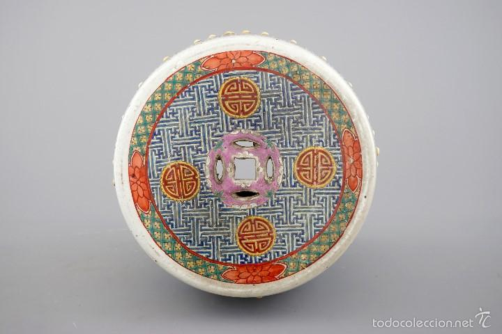 Antigüedades: ASIENTO DE JARDIN CHINA SIGLO XIX - Foto 5 - 57695431