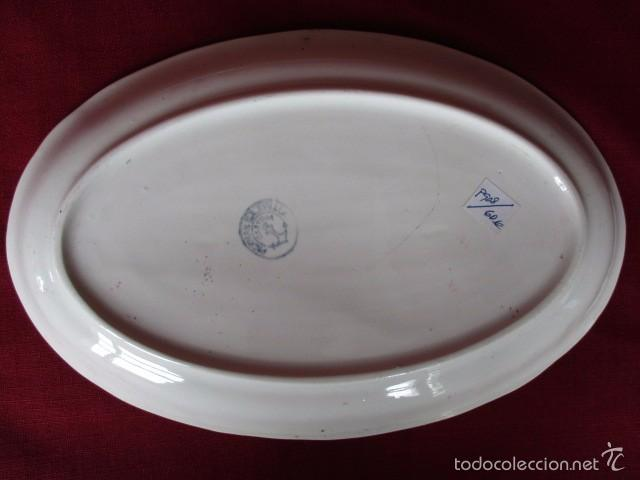 Antigüedades: Fuente ovalada color rosa (La Cartuja - Pickman) - Foto 2 - 57705672
