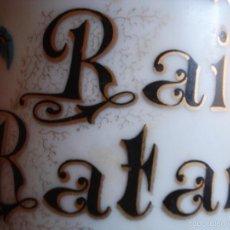 Antigüedades: SXIX ALBARERO RAÍZ DE RATANIA CON TAPA DE LATÓN . Lote 57707840