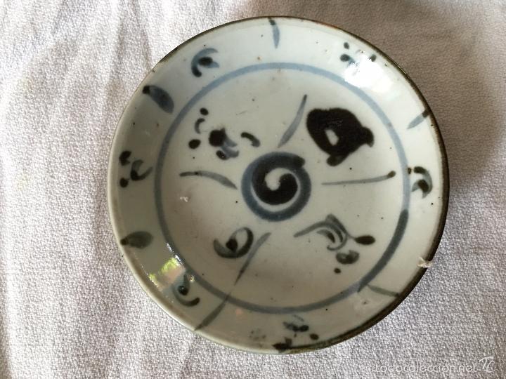 Antigüedades: Trio de pequeños platos V.O.C de reprodución. 3 repro V.O.C. plates - Foto 2 - 57710677