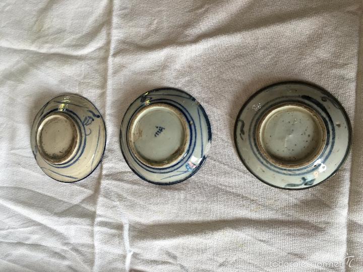 Antigüedades: Trio de pequeños platos V.O.C de reprodución. 3 repro V.O.C. plates - Foto 5 - 57710677