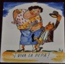 Antigüedades: ANTON ROCA MARISTANY (BARCELONA,1895 - 1977) AZULEJO PINTADO A MANO. 15 CM. X 15 CM.. Lote 57712003
