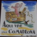Antigüedades: ANTON ROCA MARISTANY (BARCELONA,1895 - 1977) AZULEJO PINTADO A MANO. 15 CM. X 15 CM.. Lote 57712021