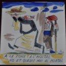 Antigüedades: ANTON ROCA MARISTANY (BARCELONA,1895 - 1977) AZULEJO PINTADO A MANO. 15 CM. X 15 CM.. Lote 57712038