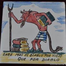 Antigüedades: ANTON ROCA MARISTANY (BARCELONA,1895 - 1977) AZULEJO PINTADO A MANO. 15 CM. X 15 CM.. Lote 57712066