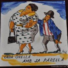 Antigüedades: ANTON ROCA MARISTANY (BARCELONA,1895 - 1977) AZULEJO PINTADO A MANO. 15 CM. X 15 CM.. Lote 57712196