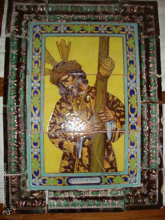 RETABLO CERAMICO AZULEJOS (GRAN PODER) (Antigüedades - Porcelanas y Cerámicas - Triana)