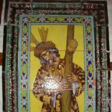 Antigüedades: RETABLO CERAMICO AZULEJOS (GRAN PODER). Lote 57716741