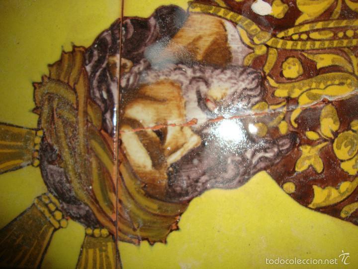 Antigüedades: Retablo ceramico azulejos (Gran poder) - Foto 2 - 57716741