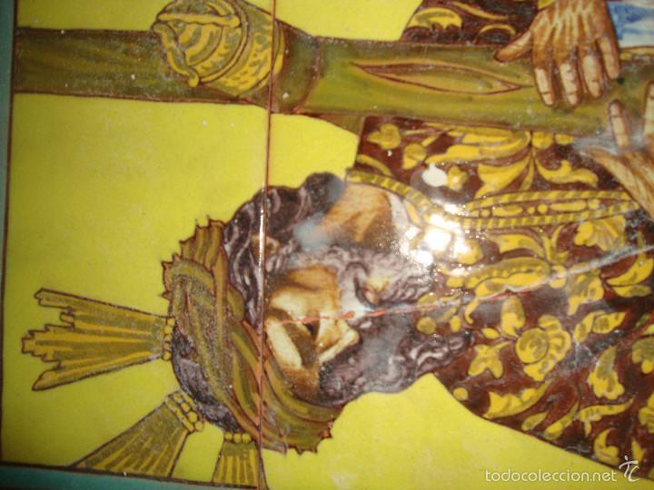Antigüedades: Retablo ceramico azulejos (Gran poder) - Foto 3 - 57716741