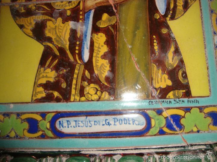 Antigüedades: Retablo ceramico azulejos (Gran poder) - Foto 4 - 57716741