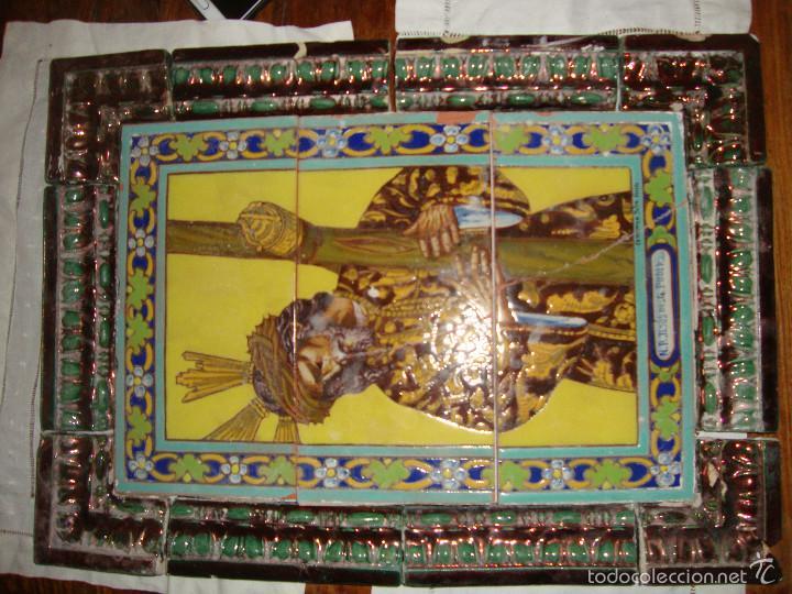 Antigüedades: Retablo ceramico azulejos (Gran poder) - Foto 9 - 57716741